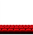 cinema auditorium with screen and red seats vector image