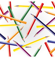 Color pencils seamless background vector image vector image