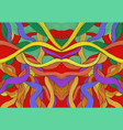 colorful abstract symmetrical psychedelic pattern vector image vector image
