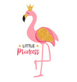 cute little princess abstract background with pin vector image vector image