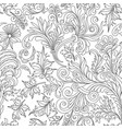 decorative vintage flowers seamless pattern good vector image vector image