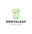 dental leaf logo icon vector image
