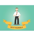 diy do it yourself men working use hammer house vector image