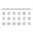 document drawing icon vector image