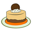doodle cupcake vector image vector image