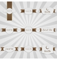 Eid al-Fitr realistic greeting Banners Set vector image vector image