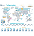 elements for news infographic with map vector image vector image