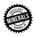 Excellent source of minerals stamp vector image vector image