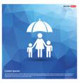 family social insurance icon vector image