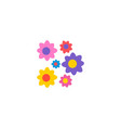 flowers icon flat element of vector image vector image