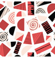 geometric shapes pink red black seamless vector image