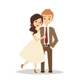 Happy bride and groom on wedding romance love vector image vector image
