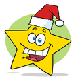 Happy Christmas Star Cartoon Character Smiling vector image vector image