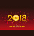 happy new year 2018 placard banner template design vector image