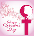 happy womens day female symbol card vector image vector image