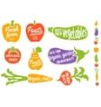Healthy food vegetable background vector image vector image