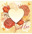 heart card 380 vector image