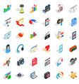 heart design icons set isometric style vector image vector image