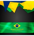 Hi-tech background with Brazilian flag vector image vector image