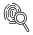 investigation line icon crime and exploration vector image vector image