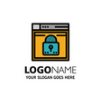 login secure web layout password lock business vector image