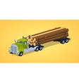 Low poly log truck vector image vector image