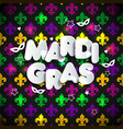 mardi gras decoration seamless pattern vector image