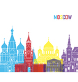 moscow skyline pop vector image vector image