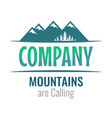 mountains are calling - perceptible logo vector image vector image