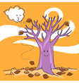 Naked tree in autumn vector image
