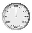 new year clock vector image vector image