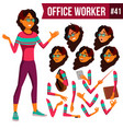 office worker arab saudi woman business vector image vector image