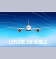 passenger airplane flying in sky vector image