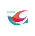 positive - logo template concept vector image