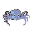 purple octopus sea life bubbles doodle vector image