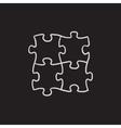 Puzzle sketch icon vector image vector image