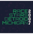 race stars typography t-shirt graphics vector image vector image