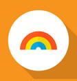 rainbow icon flat symbol premium quality isolated vector image