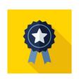 ribbon award best seller icon vector image vector image