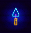 scraper neon sign vector image vector image