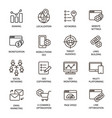 seo line icons set optimization vector image vector image