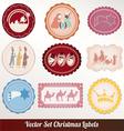 set of christmas vintage vector image vector image
