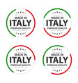 set of four italian icons english title vector image vector image