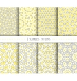 set seamless geometric patterns vector image vector image