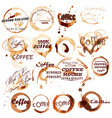 set spot grunge elements from coffee vector image vector image
