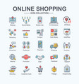 shopping online banner web icon set website vector image