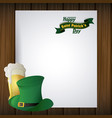 st patricks day frame vector image vector image