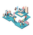 teamwork business analytics isometric concept vector image