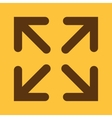 The full screen icon Arrows symbol Flat vector image vector image