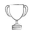 trophy cup symbol vector image vector image